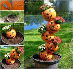 Tipsy Pumpkin Planter