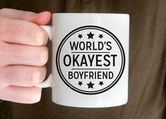 Mug Mens Gift for Men Coffee Mug Worlds Okayest by fieldtrip