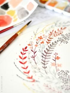 Evajuliet flowers In The Studio of Eva Juliet | Pretty Paintings and Illustrations from Mon Carnet Blog