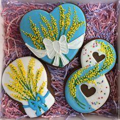 Купить Набор пряников на 8 марта - комбинированный, подарок, Праздник, поздравление, пряник, пряник расписной