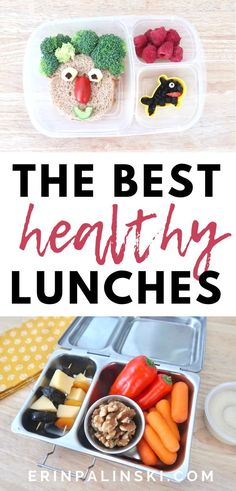 These 3 healthy lunch ideas are perfect for adults and kids.  These healthy lunches will help fuel your body!  Great ideas for back to school lunches. #healthylunch Easy Delicious Recipes, Healthy Recipes, Pinterest Recipes, Pinterest Food, Healthy School Lunches, Good Food, Yummy Food, Create A Recipe, Nutritious Meals