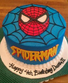 Spiderman Cake Ideas for Little Super Heroes - Novelty Birthday Cakes Spiderman Birthday Cake, 4th Birthday Cakes, Novelty Birthday Cakes, Superhero Cake, Superhero Birthday Party, Boy Birthday, Cupcakes, Cupcake Cakes, Brownie