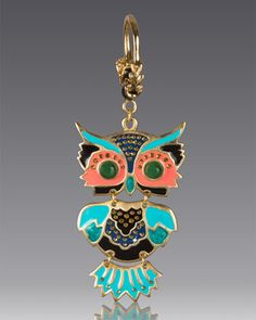 Owl Key Chain by Jay Strongwater at Neiman Marcus.
