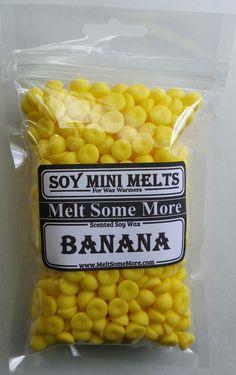 Banana Soy Wax Mini Melts  from my Etsy shop https://www.etsy.com/listing/386336006/mini-melts-scented-tarts-banana-soy-mini