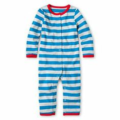 giggleBABY™ Striped Coveralls @JCPenney #stripes #newborn #baby