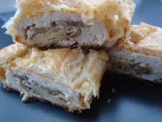 Piept de pui cu ciuperci in foietaj - CAIETUL CU RETETE Spanakopita, Carne, Cooking Recipes, Cheese, Ethnic Recipes, Food, Sweets, Ham, Chef Recipes