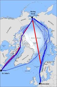 Map of the routes taken by several norse explorers intentional or shipping lanes through the arctic ocean wont put the suez and panama canals out of business anytime soon but global warming will make these frigid routes freerunsca