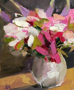 Peonies no. 16 Painting   angela moulton's painting a day
