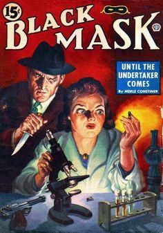 Vintage Black Mask crime fiction pulp magazine cover
