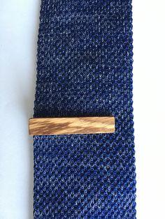 Zebra Wood Tie Clip  wooden tie clip  wood tie clip