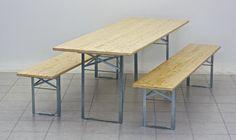 Biertent verzinkte frames met een 80 cm breed bier bier tafel en banken met eiener zetel breedte van 40cm