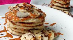 Sladké raňajky bez ovsených vločiek? Skús tieto nadýchané kokosové lievance plné vlákniny. Stevia, Healthy Recipes, Healthy Food, Health Fitness, Low Carb, Breakfast, Weight Loss, Cakes, Diet