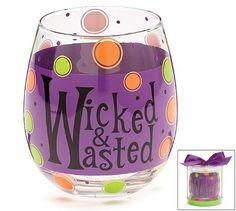purple painted wine glasses - Google Search