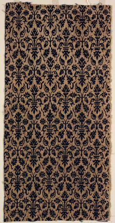 Textile fragment Unknown artist, Italian Textile fragment, 16th century Wool; linen 06.205