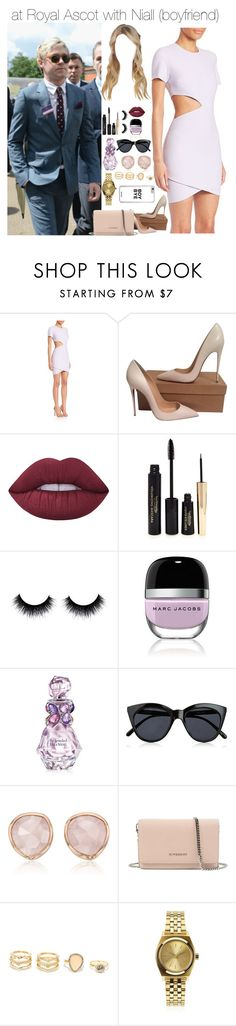 """""""Sem título #2471"""" by myllenna-malik ❤ liked on Polyvore featuring Elizabeth and James, Christian Louboutin, Lime Crime, Forever 21, Marc Jacobs, Vera Wang, Le Specs, Monica Vinader, Givenchy and LULUS"""