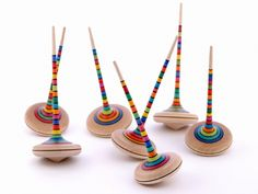 Ara Spinning Top by Mader Tops: Handcrafted in Austria. So beautifully balanced, they spin for minutes at a time. #Spinning_Top