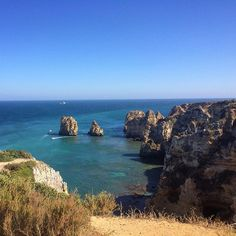 The beautiful Lagos Portugal on one of the Algarve beaches.