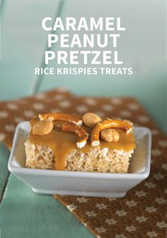 When you're short on time but need a delicious snack you know your kids will love, look no further than this recipe for Caramel Peanut Pretzel Rice Krispies Treats®. The sweet and salty flavor combination is enough to get them hooked!
