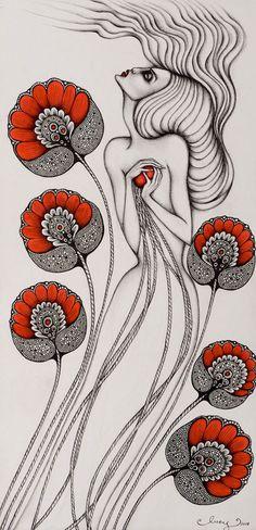 Lucy Hardie (Australian, b. 1984, Shepparton, Victoria, Australia) - Untitled, 2008 Graphite, Ink on Cotton Paper