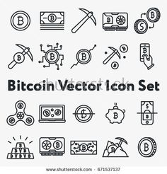 Cryptocurrency ticker icon set repository