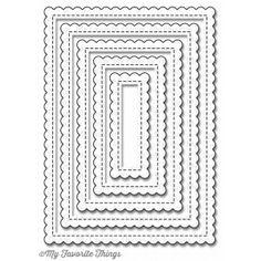 Vágósablon MFT-791, Die-namics  / Stitched Mini Scallop Rectangle Stax -  (1…