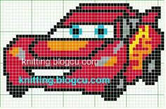 Pin de Fatima D. Cross Stitch Charts, Cross Stitch Designs, Cross Stitch Embroidery, Cross Stitch Patterns, Knitting Charts, Knitting Patterns, Pixel Crochet Blanket, Cars Characters, Crochet Cat Pattern