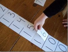 """How to make a Montessori """"teen"""" board (Adding 10+ n = teen number) Take it further by adding 10 to other double digit numbers. Could make multiple sets for centers out of index cards."""