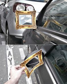 brilliant guerrilla stunt to a French company specializing in framing works of art.
