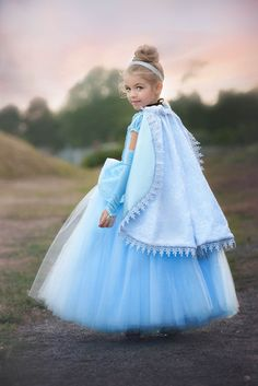 CHRISTMAS DELIVERY - DELUXE Reversible Princess Cape with Metallic Venice Lace Trim - Custom Color!
