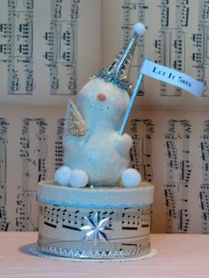 Items similar to vintage inspired handsculpted snowman figurine 'let it snow' CHRISTMAS on Etsy Large Christmas Tree, Christmas Frames, Christmas Love, Christmas Deco, Christmas Snowman, Christmas Items, Holiday Ornaments, Christmas Arts And Crafts, Xmas Crafts