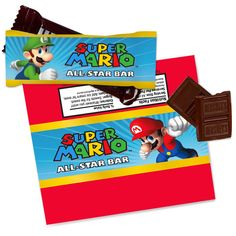 Super Mario Party Small Candy Bar Wrappers, 89422