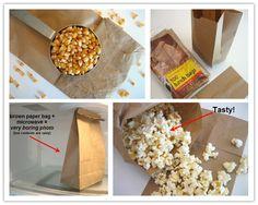 Comment faire un sac à popcorn au micro onde maison!
