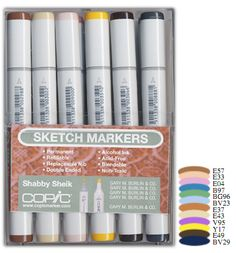 Copic - Sketch Marker Set - Shabby Sheik - 12 Piece Set at Scrapbook.com $77.99