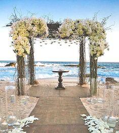 decorazioni matrimonio in spiaggia