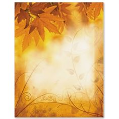 Fall Shimmer Letter Paper | IdeaArt Computer Paper, Autumn Activities, Paper Decorations, Scrapbook Paper, Vintage Posters, Framed Art, Projects To Try, Stationery, Decorative Paper