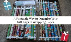 A Fantastic Way to Organize Your Gift Bags & Wrapping Paper |Smart~Happy~Organized