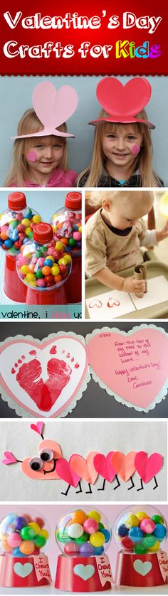Valentine's Day crafts for kids- cute ideas!