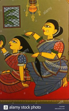 Stock Photo - folk art in Bangladesh Bengali Art, Rajasthani Art, Madhubani Art, Madhubani Painting, Kalamkari Painting, Fabric Painting, Painting Tips, Art Painting Gallery, Doodle Art Drawing
