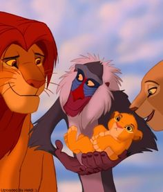 *MUFASA, RAFIKI, SIMBA & QUEEN SARIBI ~ The Lion King, 1994