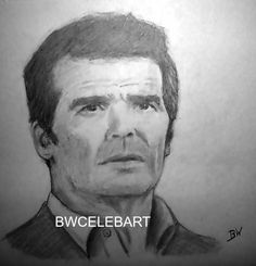 THE ROCKFORD FILES CELEBRITY REALISM GRAPHITE PENCIL DRAWING JAMES GARNER…
