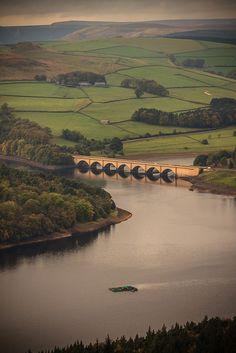 Sunlit Water, Ladybower Reservoir, Aston, Derbyshire, England by Gary Seddons