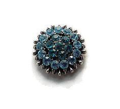 bouton snap strass turquoise et bleu clair 20 mm pour bijoux personnalisables 229 : Autres accessoires bijoux par mamiechantal-screations
