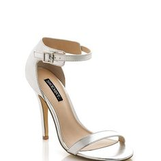 sexy silver strappy heels perfect for fall 2013