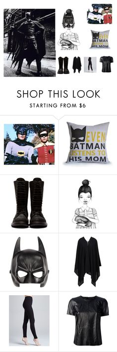 """""""Batdad cracks us up"""" by stay-strongforever ❤ liked on Polyvore featuring Rick Owens, River Island, Cosabella and Rachel Zoe"""