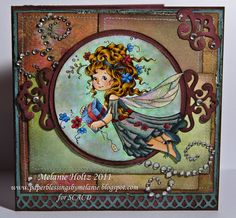 Sylvia Zet  wonderful coloring and layout on this fairy card