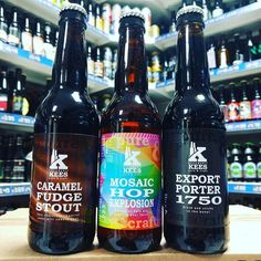 Caramel Fudge Stout 11.5% Mosaic Hop Explosion 5.5% IPA & 1750 Export Porter 10.5% from @keesbubberman available now