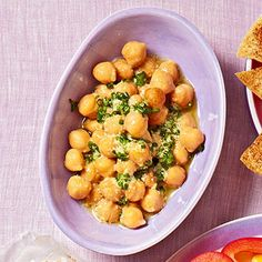 Lemony Chickpea Salad  Whisk together 1 teaspoon olive oil, 2 teaspoons lemon juice, 1/2 teaspoon lemon zest, 1/8 teaspoon Dijon mustard, and 2 teaspoons chopped fresh chives. Toss with 1/2 cup drained and rinsed canned chickpeas.
