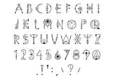 This is a unique decorative font based on the sacred symbols. Architecture Symbols, Sign Fonts, Create Labels, Typography Alphabet, Sacred Symbols, Creative Fonts, Lettering Tutorial, Typography Inspiration, Design Inspiration