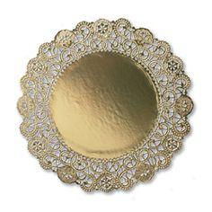 10 Inch Gold Doilies - Cambridge Lace  Case size: 500, Minimum Order: 500  $96.95