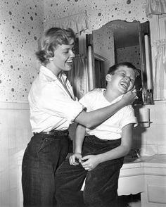 Doris Day and her son Terry - 1950